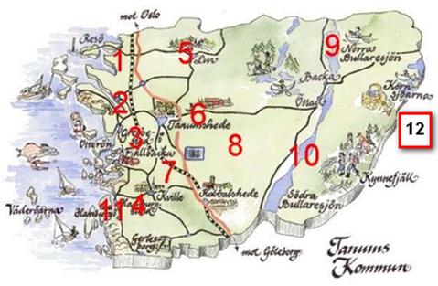 Karta över fiberföreningarnas områden